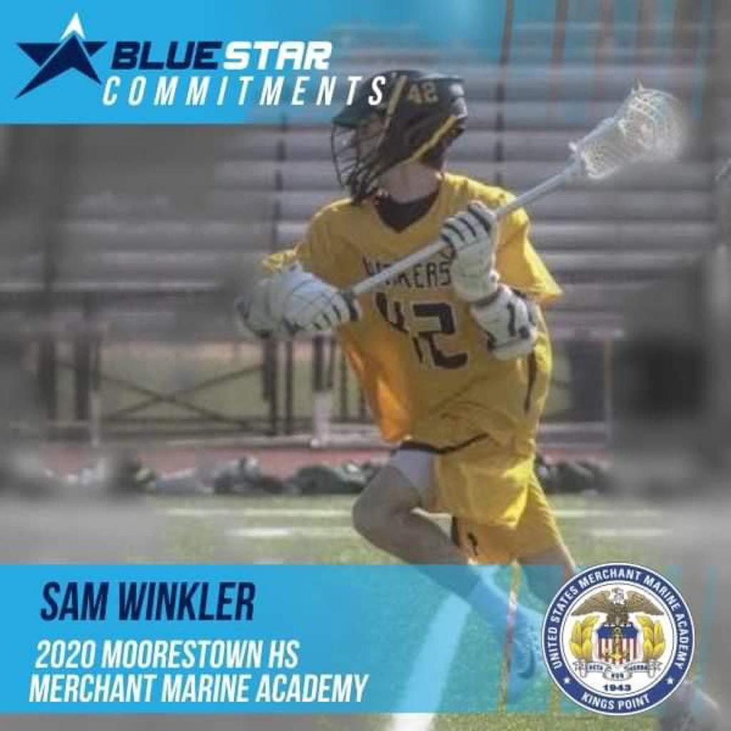 Sam Winkler Blue Star Lacrosse Merchant Marine Academy