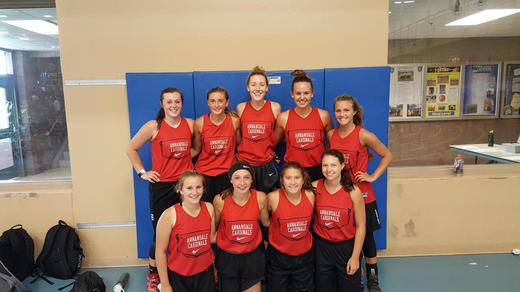 Annandale — champions of the girls' JV Lynx division of the June 15 Summer Series in St Michael