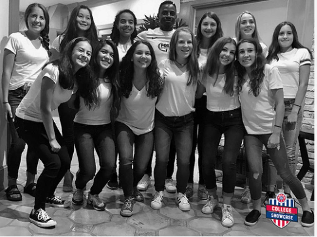 Elite girls play in NSCAA College Showcase