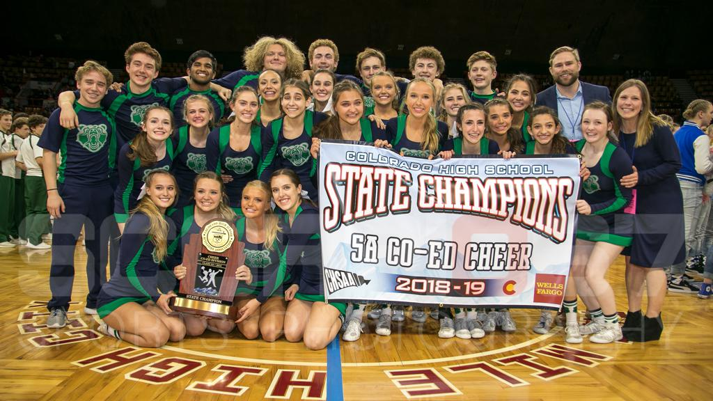 CO-Ed Cheer 2018-19 5A STATE CHAMPIONS