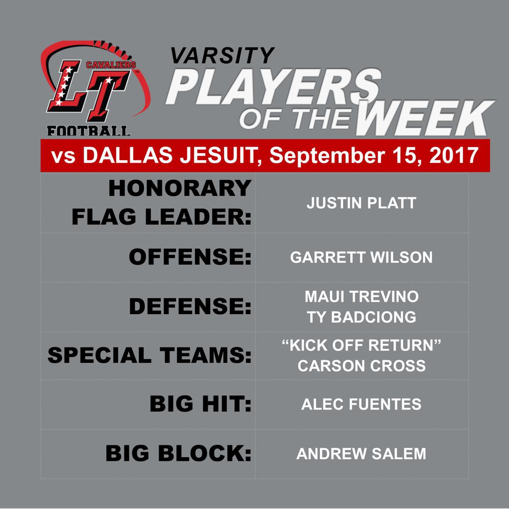 Varsity Players of the Week