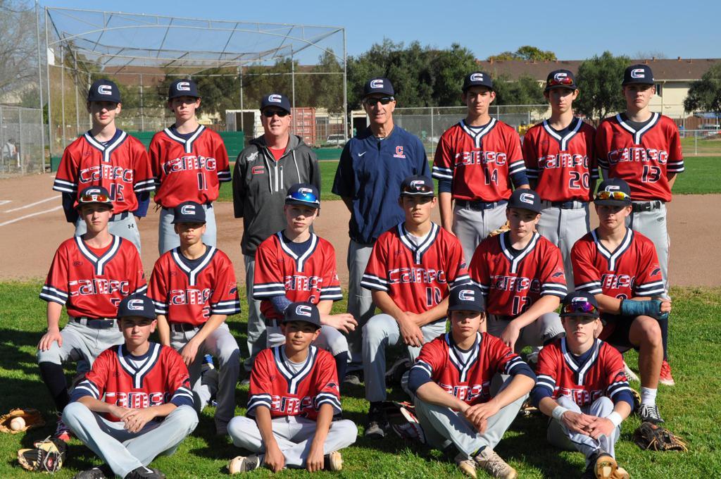 2020 Campolindo Freshman Baseball Team Photo