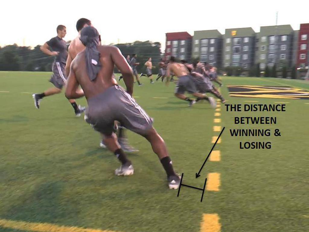 In sports, in life >> shortcuts get you nowhere!