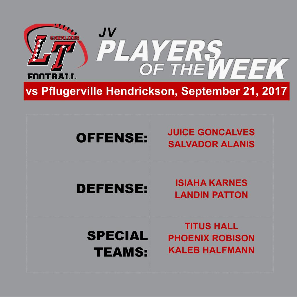 JV Players of the Week