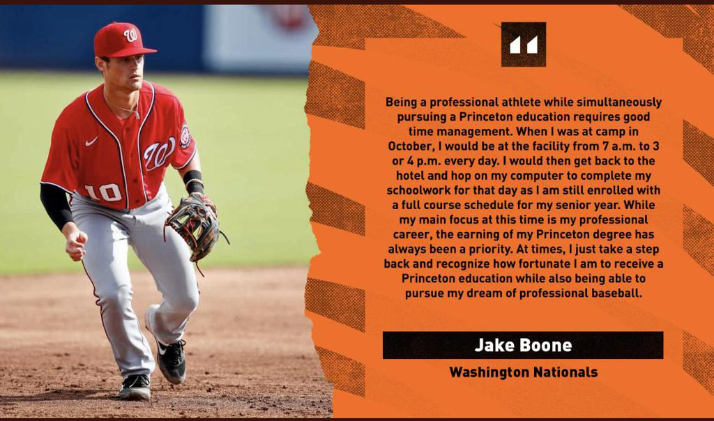 Jake Bone, Nationals and Princeton degree.