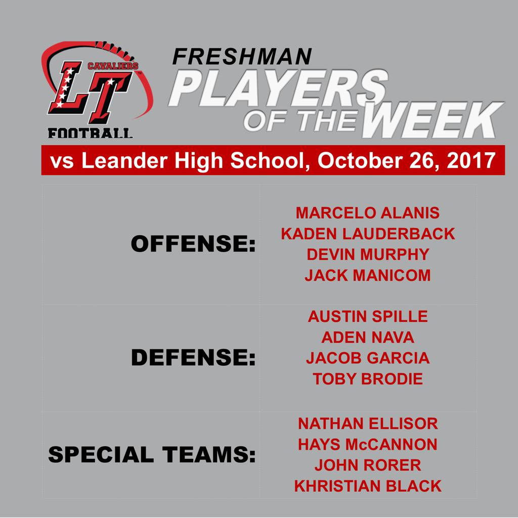 Freshman Players of the Week