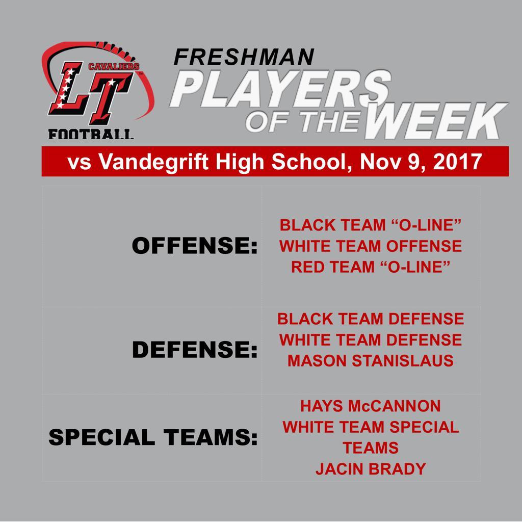 Freshman Players of the Week vs Vandegrift High School