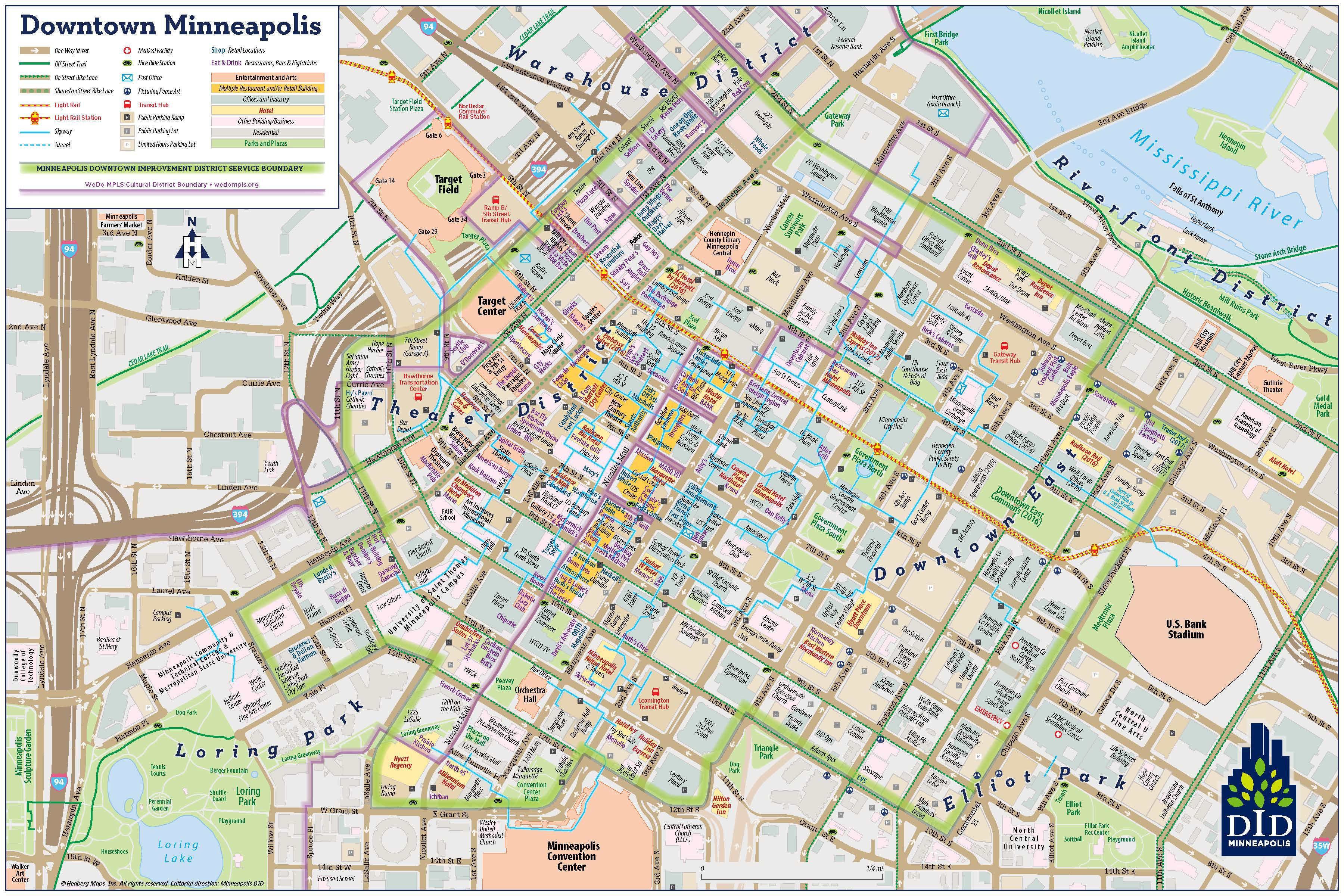 Mpls DID - Downtown Minneapolis Visitor Map