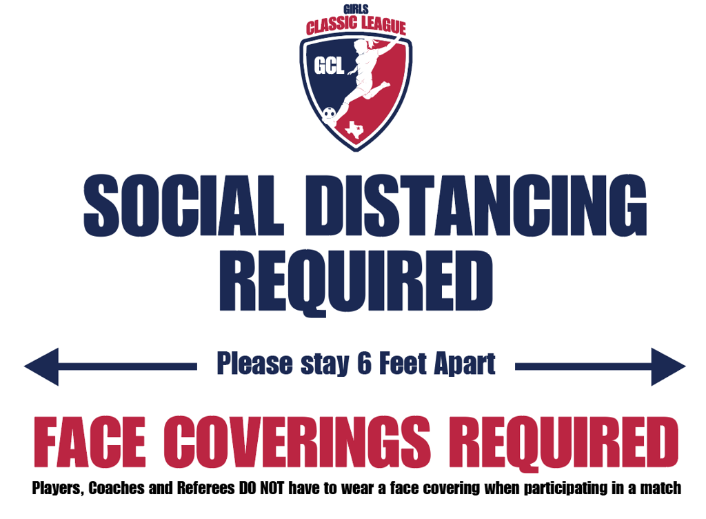 Social Distancing | Face Coverings Required