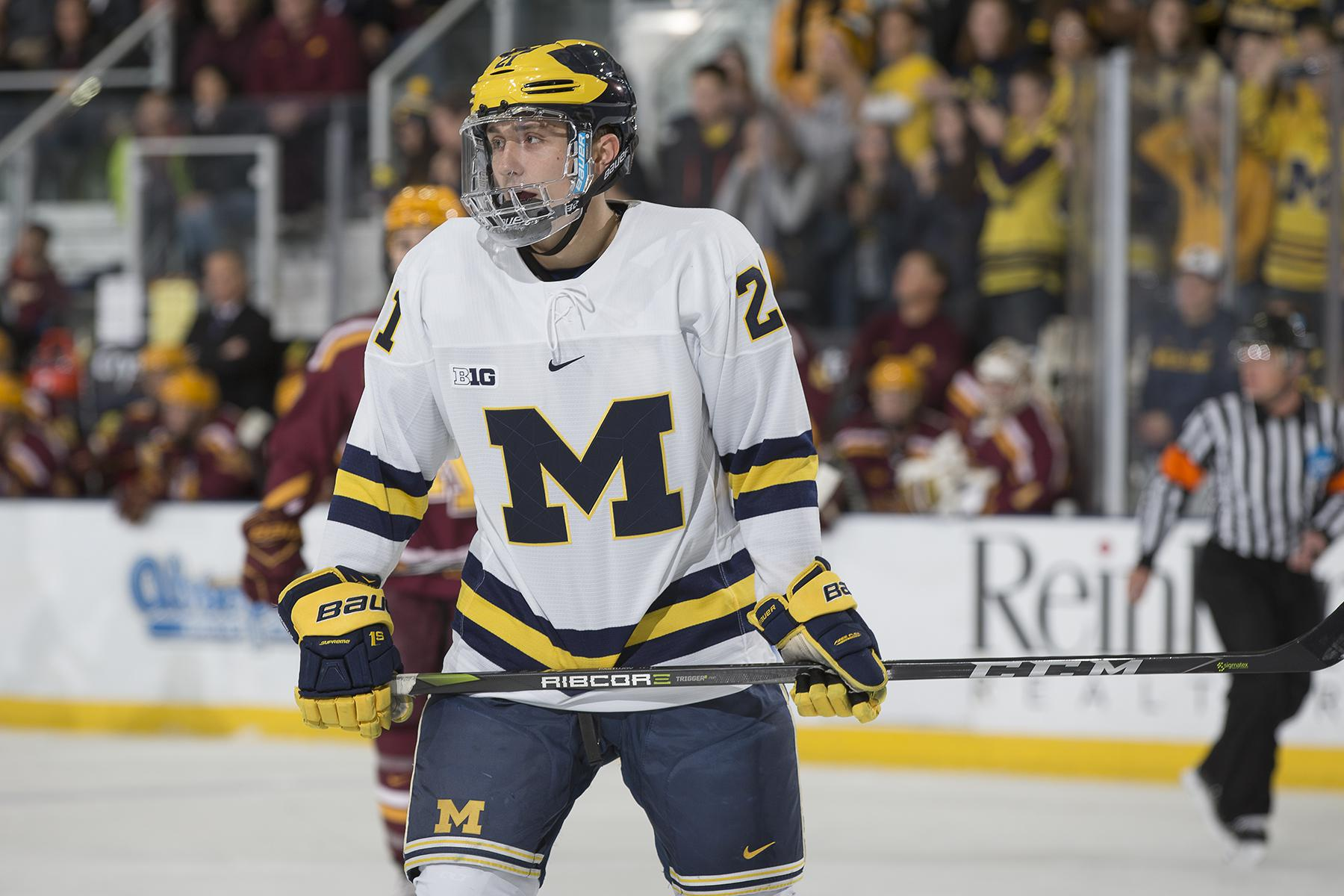 Mike Pastujov with the University of Michigan (photo courtesy of Michigan Photography & Rena Laverty)