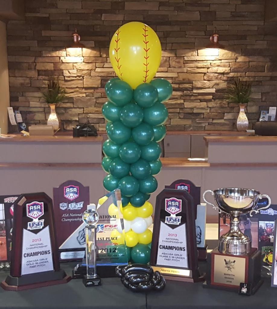 Atlanta Vipers fastpitch softball organization national championship trophies