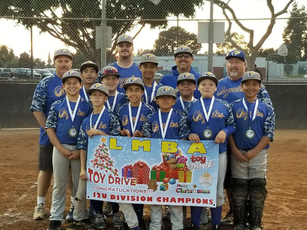 2017 12U LMBA Toy Drive Tournament Champions