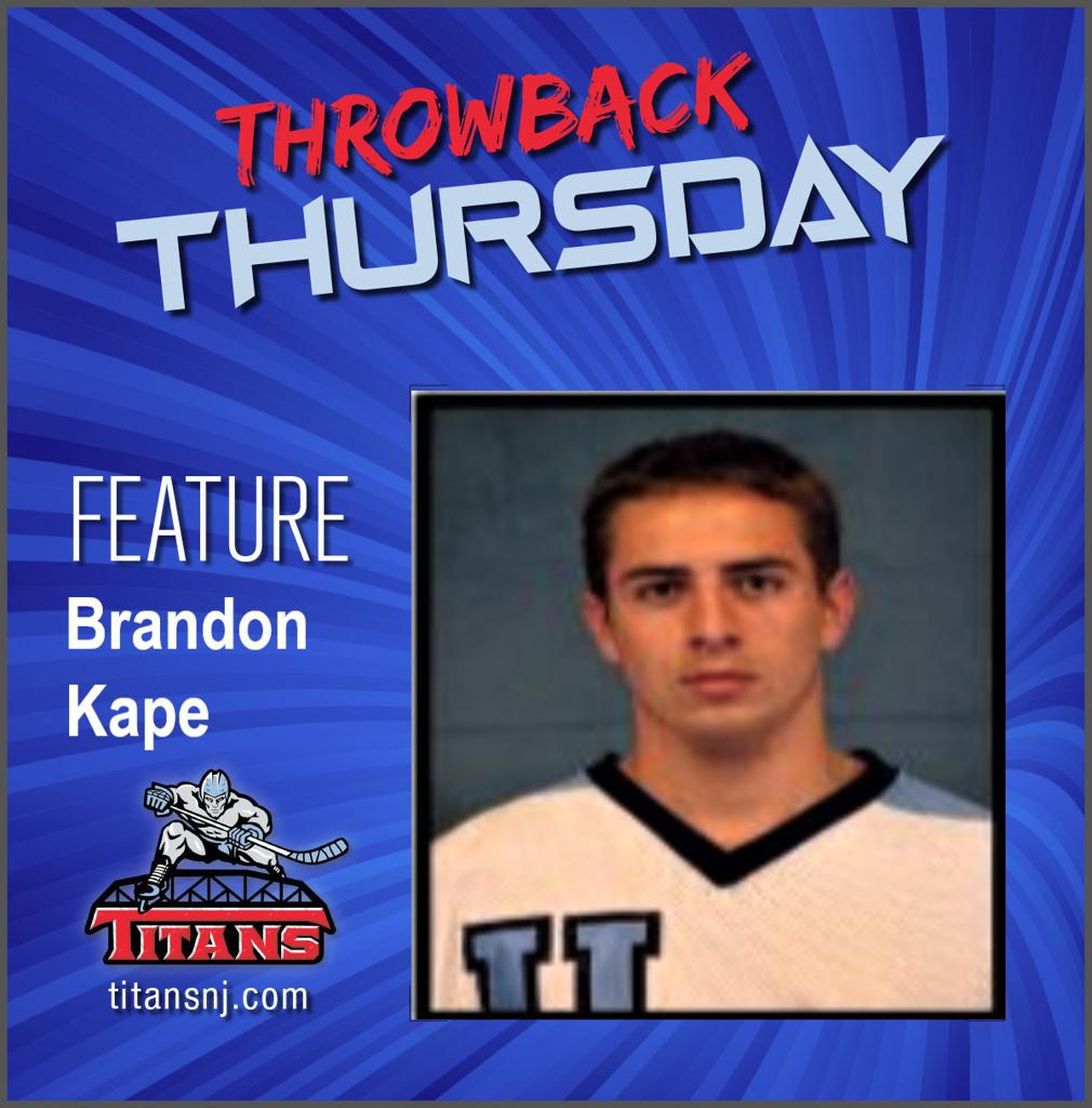 May 21, 2020 Throwback Thursday edition features Brandon Kape