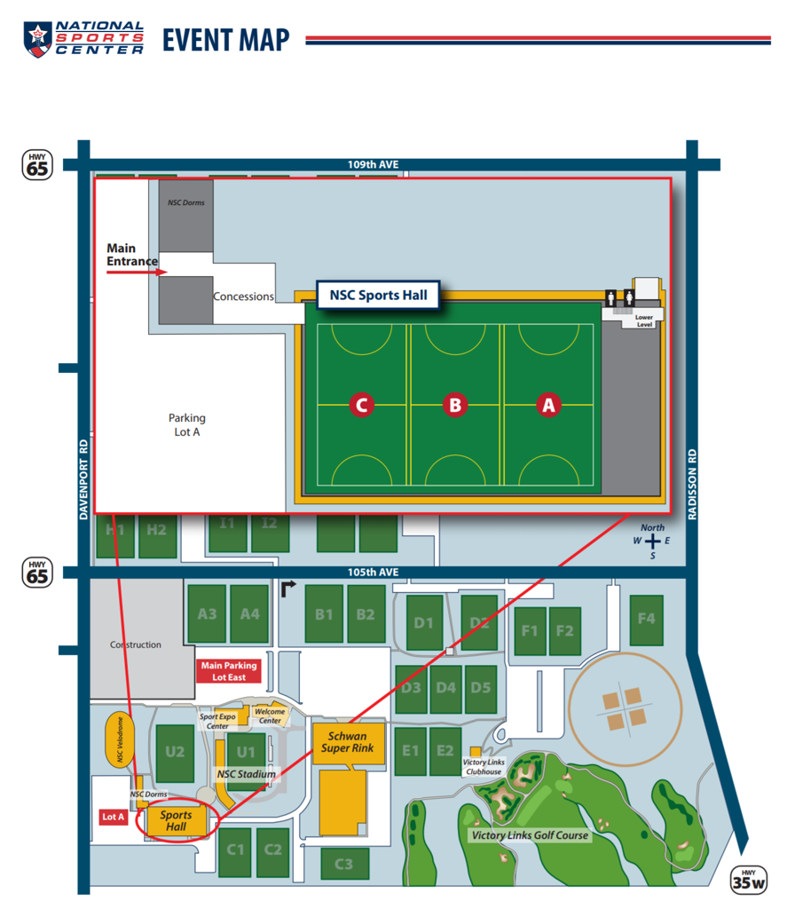 Maps & Directions National Sports Center Field Map on blaine national sports center map, providence park field map, blaine sports complex field map, national sports complex field map,
