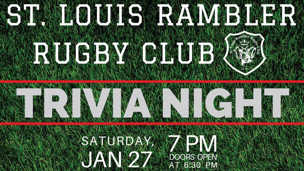 St Louis Ramblers Rugby Trivia Night