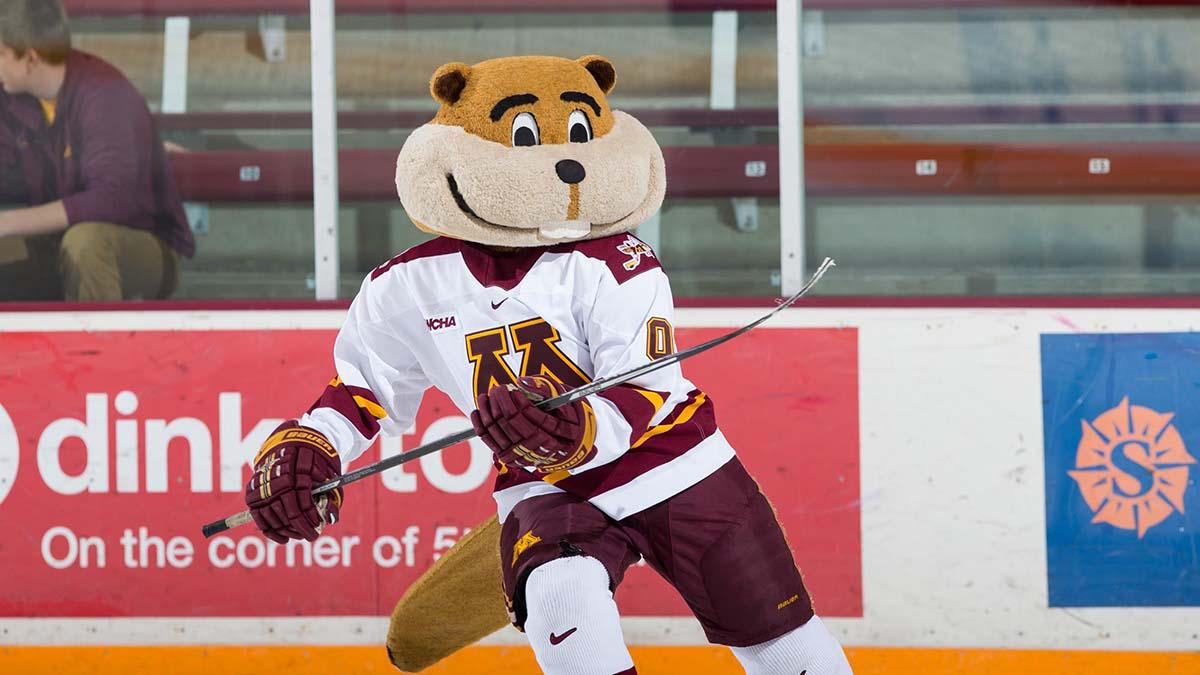 Four-time national champion Goldy Gopher represents the State of Hockey with vigor on an annual basis.