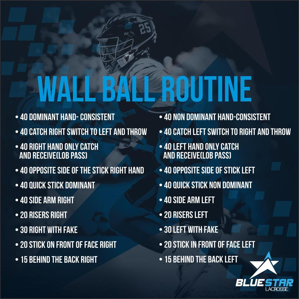 Blue Star Lacrosse Wall Ball Routine