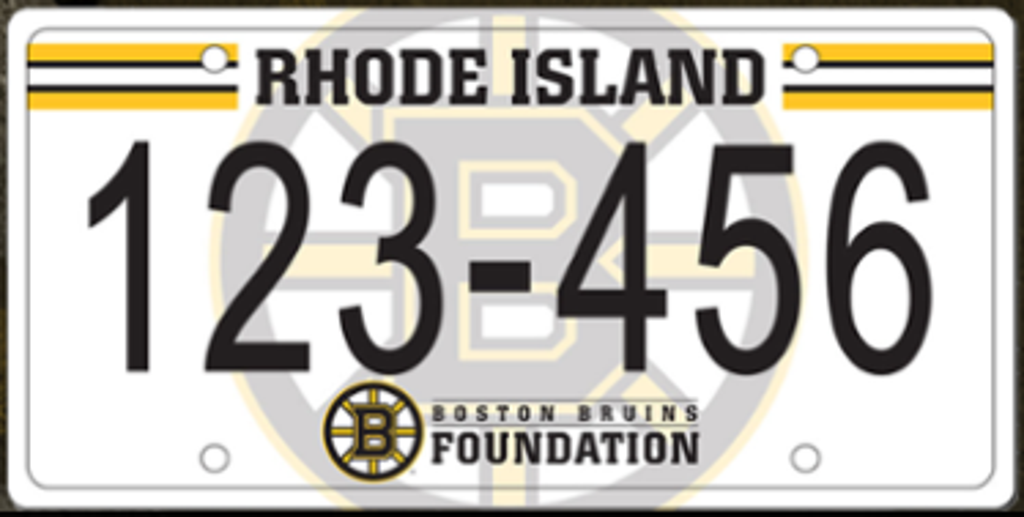 Boston Bruins Foundation RI License Plates Available