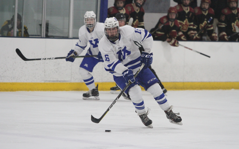 The top two teams in the Class 2A state coaches' poll face off outdoors on a neutral rink, with No. 1 Minnetonka eyeing a challenge from No. 2 Andover. Photo by Drew Herron, SportsEngine