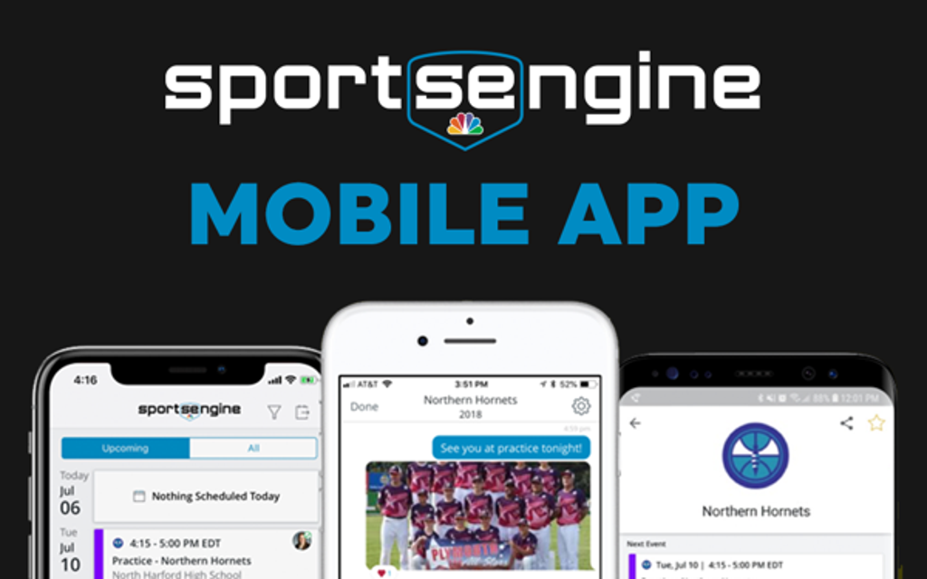 Follow your team using the Sports Engine App