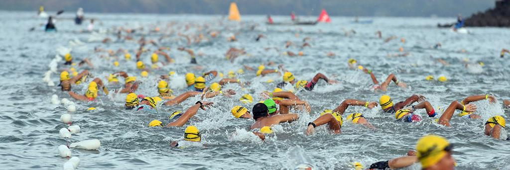 Swimmers participating in IRONMAN Philippines