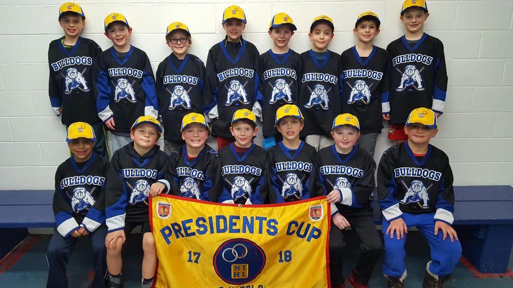 Chicago Bulldogs Mite #1 09s win 2017-2018 NIHL Presidents Cup Banner