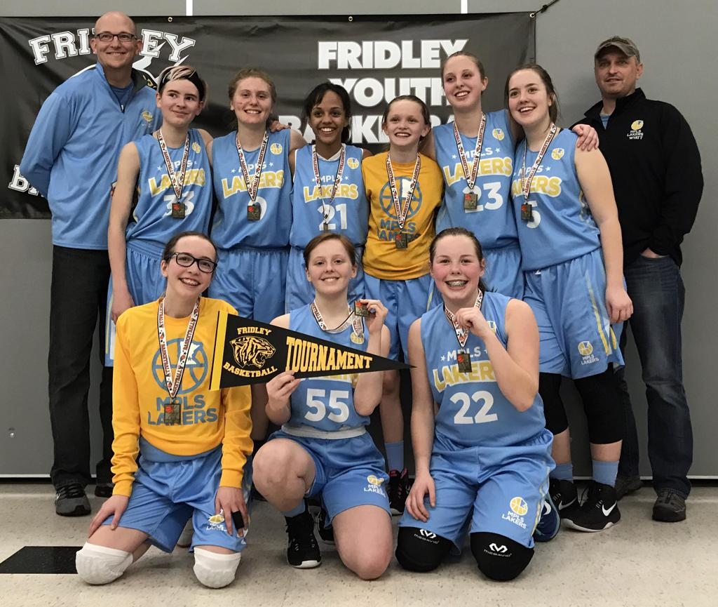 Girls 8th Grade Gold Take 1st Place at Fridley