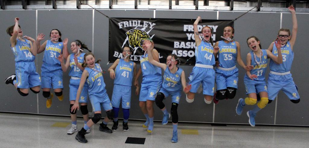 Girls 7th Grade Blue jump for joy