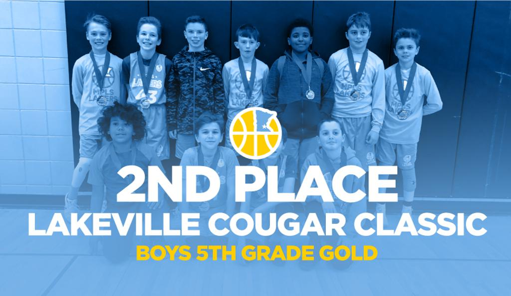 Boys 5th Grade Gold Take 2nd Place at Lakeville Cougar Classic Graphic