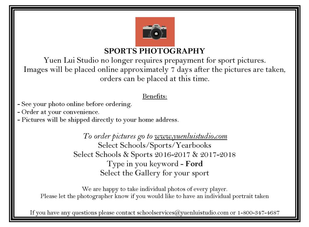 Team Sports Photography Info