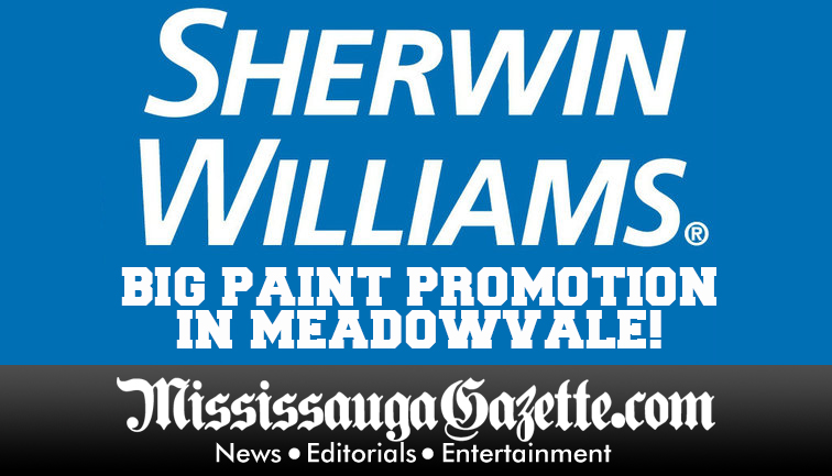 Sherwin Williams paint store in mississauga and kevin j johnston and bonnie crombie mississauga news