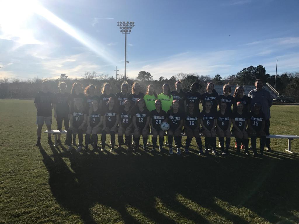 heritage women's soccer team photo