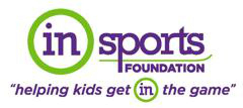 "in sports foundation logo saying ""helping kids get in the game"""