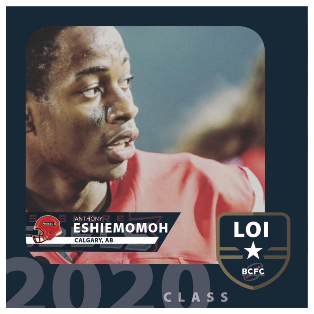 ESHIEMOMOH COMMITS TO REBELS