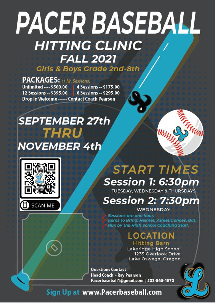 Fall Hitting Clinic SIGNUP NOW