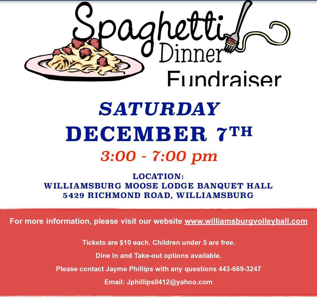 2019 Spaghetti Dinner Fundraiser