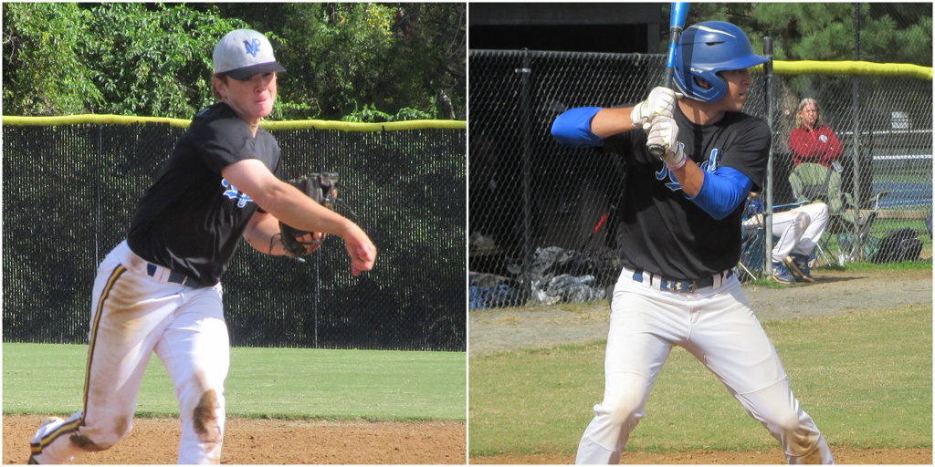 James Triantos (left) drove in 4 runs and pitched 3 innings while Warren Holzemer (right) scored a pair of runs of the Royals in a 13-3 win. Photos by Josh Belanger.