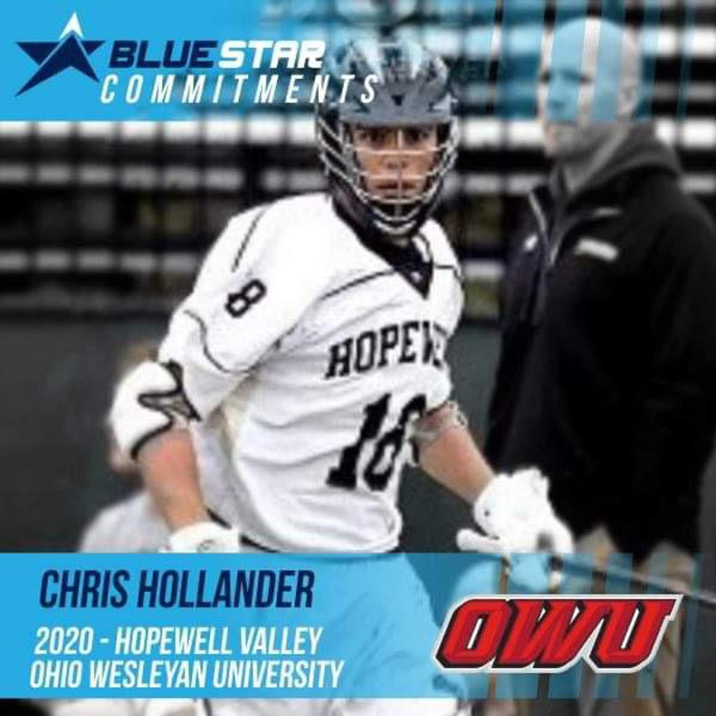 Chris Hollander Hopewell Valley Ohio Wesleyan Blue Star Lacrosse