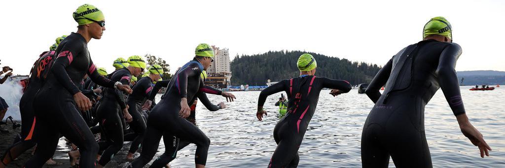 IRONMAN 70.3 Coeur d'Alene swim start