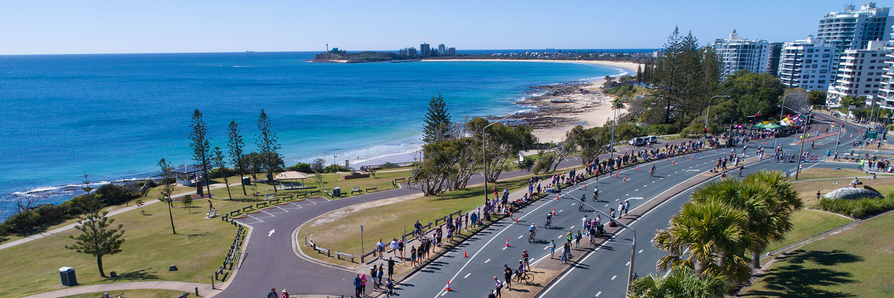 Cyclists participating in 70.3 Sunshine Coast