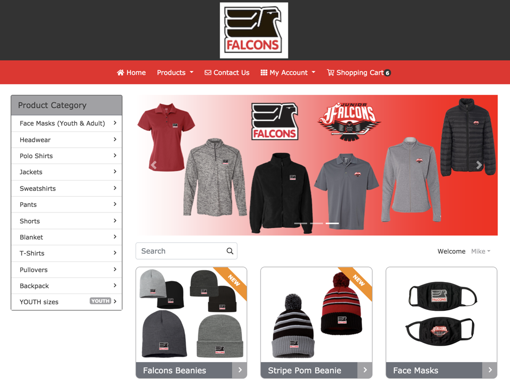 Click here for info on how to get a FREE online apparel website for your organization