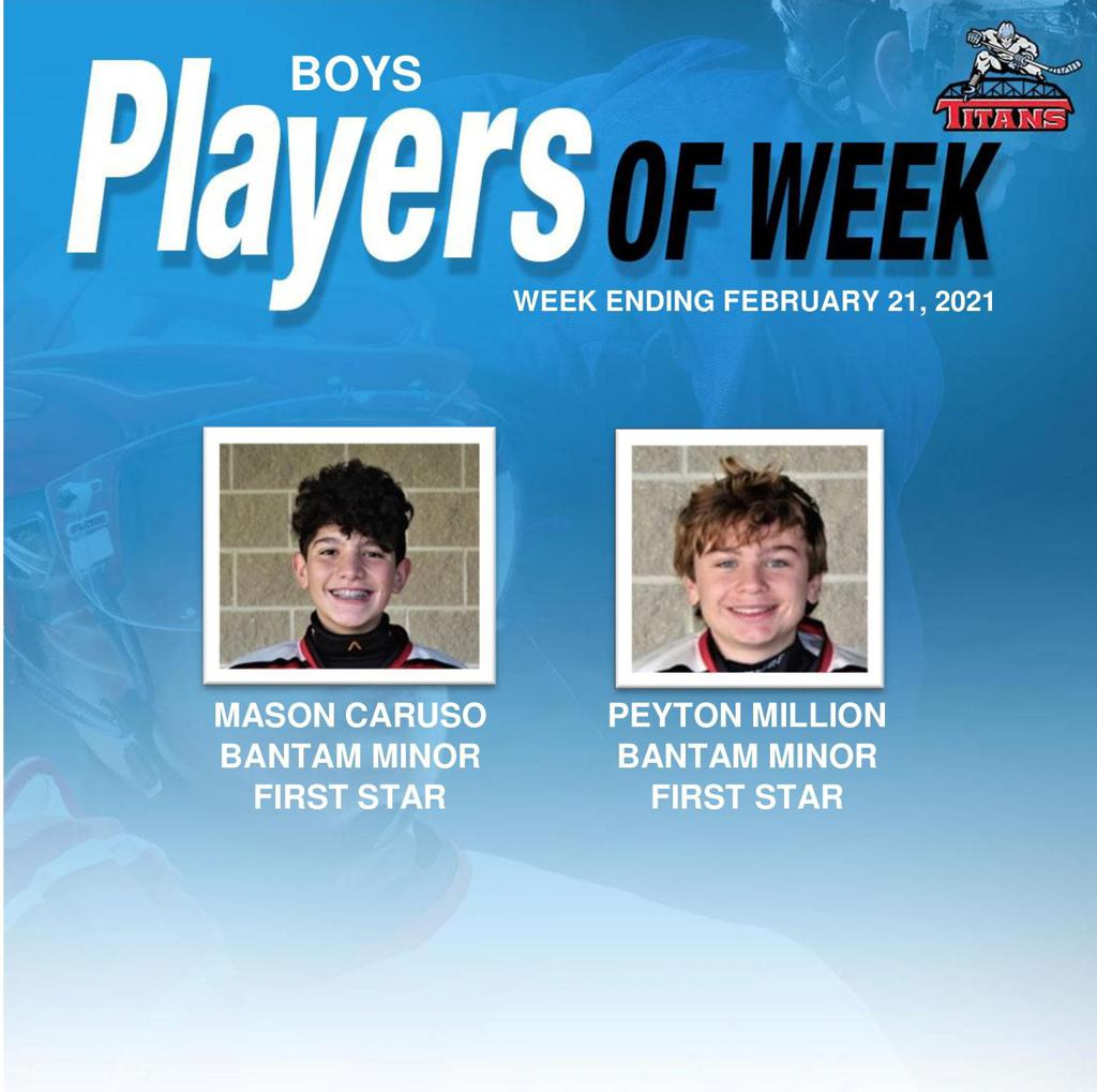Titans announce Mason Caruso and Peyton Million as Boys' Players of the Week for Week Ending February 21