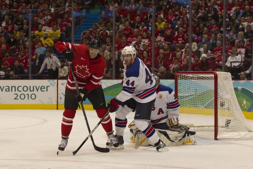 Brooks Orpik playing for Team USA