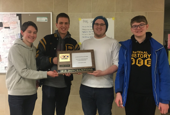 2019 SSC Quiz Bowl Conference Champions!