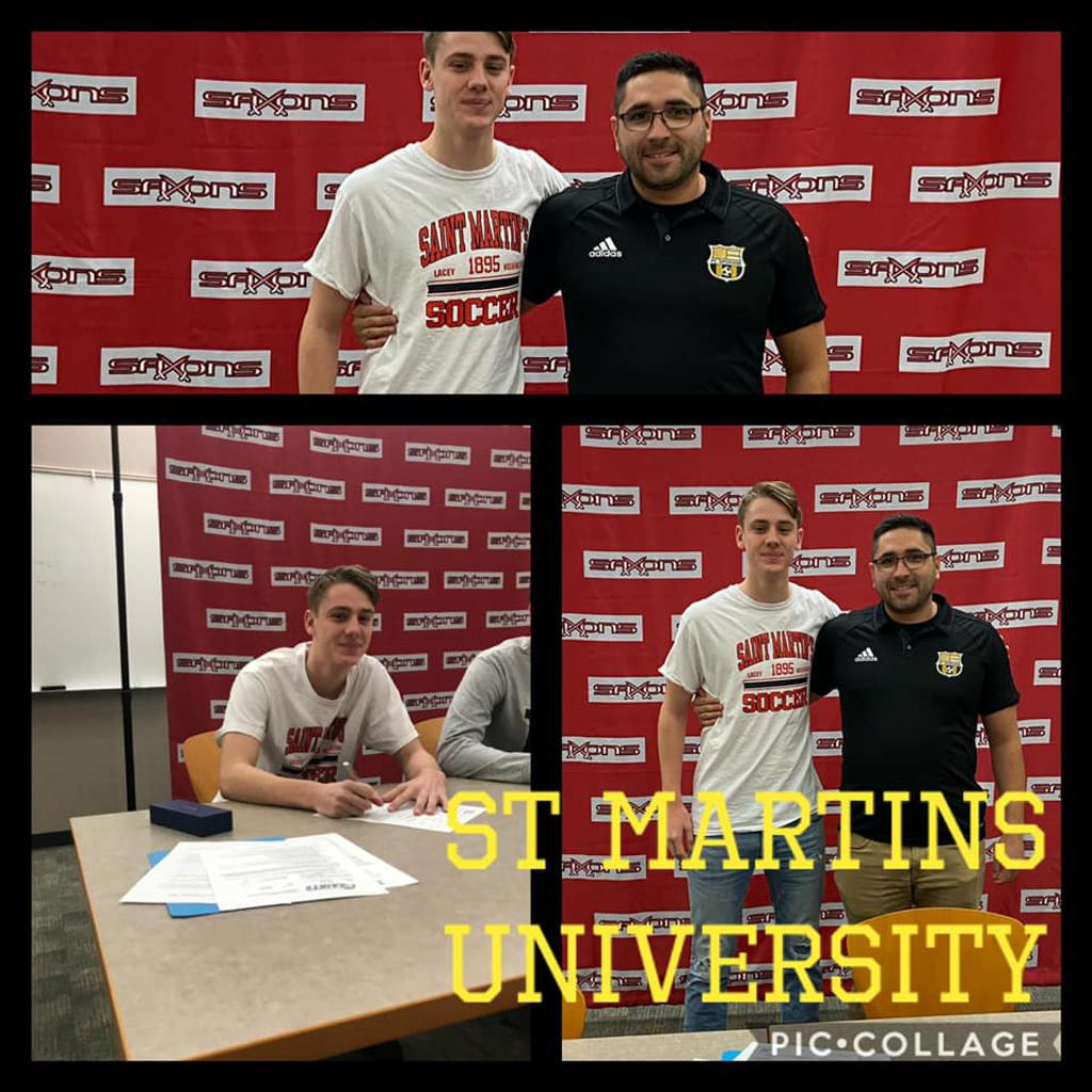 Caden Martin signs with St Martins University