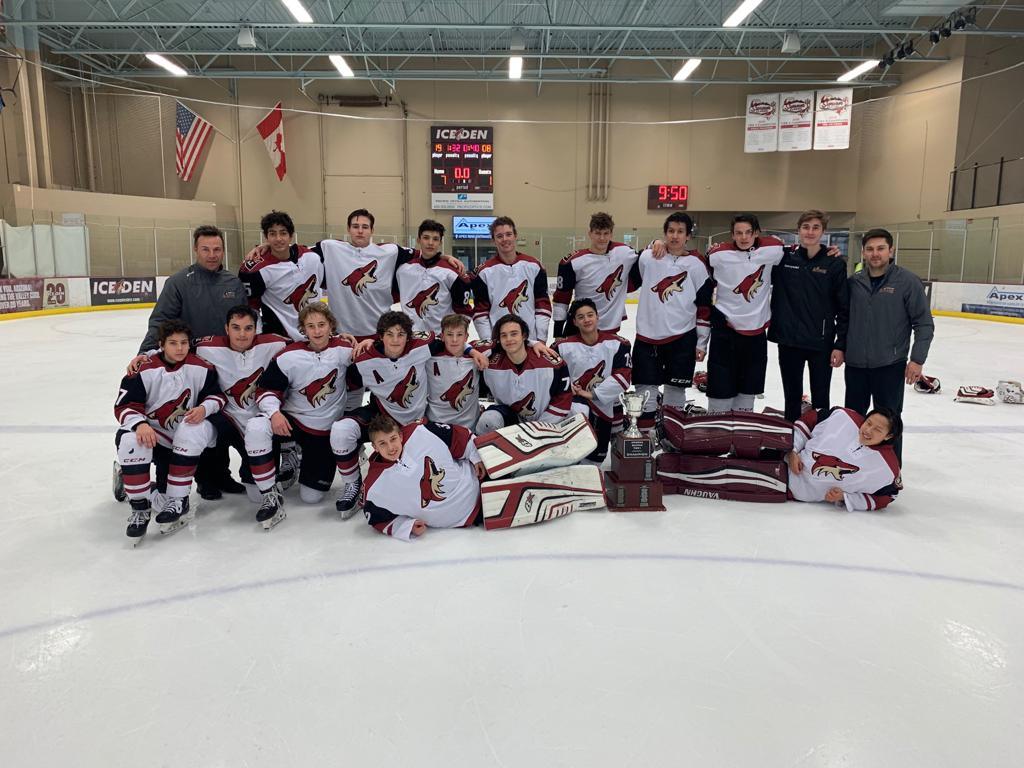 CONGRATULATIONS TO THE JR COYOTES TIER I 14U the 2018-19 ARIZONA 14U STATE CHAMPIONS