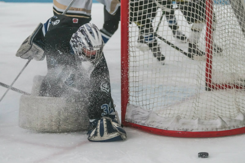Woodbury goalie Anna Julius (pictured) is one of 10 semifinalists picked for this season's Senior Goalie of the Year award. The five finalists for the award will be unveiled later this week. Photo by Korey McDermott, SportsEngine