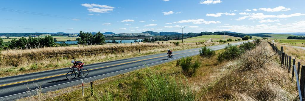Bike course IRONMAN 70.3 New Zealand
