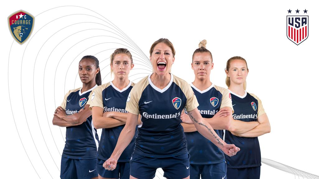 Five NC Courage Players Named to US Women's National Team