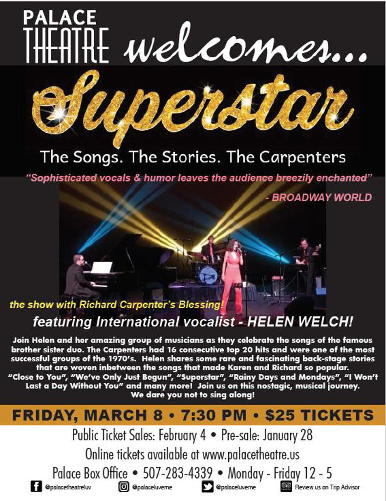 POSTPONED!!!! Superstar: The Songs, The Stories, The Carpenters